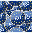 EU flag sticker symbol vector image vector image