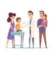 family doctor pediatrician vaccination vector image