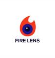 fire lens logo vector image vector image