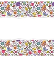 floral pattern with torn paper vector image vector image