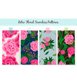 floral patterns set vintage english vector image vector image