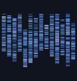 genomic data visualization vector image