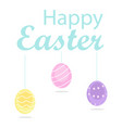 happy easter colorful eggs vector image vector image