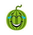 happy watermelon emoticon vector image vector image