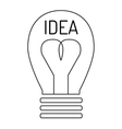 Idea lamp icon vector image vector image
