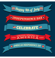 independence day banners collection vector image vector image