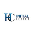 initial letter hc logo concept design symbol vector image vector image