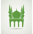 islamic mosque icon vector image