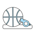 isolated basketball design vector image vector image