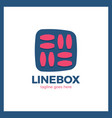 line square logo vector image