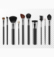 makeup brushes realistic professional makeup vector image