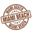 miami beach vector image vector image