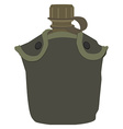 Military canteen vector image vector image
