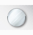 mirror round isolated realistic round mirror vector image vector image