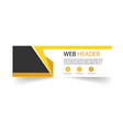 modern web header design template yellow black bac vector image vector image