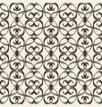 monochrome seamless pattern in arabesque style vector image vector image