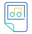 music files folder blue and yellow linear icon vector image vector image