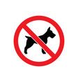 no dog allowed glyph icon vector image