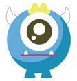 one eyed monster on white background vector image vector image