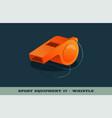 orange whistle icon game equipment professional vector image vector image