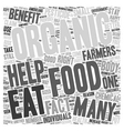 Organic Food Benefits Why You Should Eat Organic vector image vector image