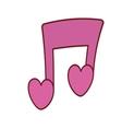 Pink love note musical valentine