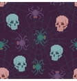 Pixel Spider and Skull Pattern vector image vector image