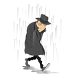 Rainy day and the man in low spirits vector image vector image