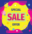 sale concept banner design clearance promotion vector image vector image