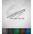 scalpel icon vector image