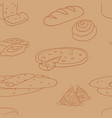 seamless pattern of baking elements of the vector image vector image