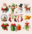 set colorful christmas characters vector image vector image