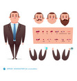 set for character speaks animationsmen s suit vector image vector image