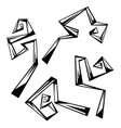 set of abstract curls with corners vector image vector image