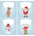 Set winter label with Christmas motifs vector image vector image
