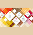 square infographics on abstract background vector image