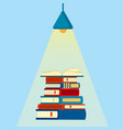 stack book open book under light from the vector image vector image