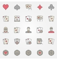 Texas holdem poker icons vector image vector image