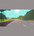 the road against nature clear sunny day the vector image