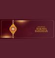 traditional raksha bandhan festival banner design