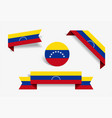venezuelan flag stickers and labels vector image vector image