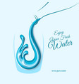 water splash with waterdrops in glass in paper cut vector image vector image