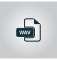 WAV audio file extension icon vector image vector image