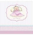 Welcome new baby girl vector image vector image