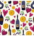 Wine seamless background in Used clipping mask vector image vector image