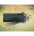 Dark grunge ink splash banner vector image