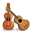 guitar instrument musical icon vector image