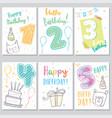 set happy birthday baby vector image
