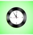 Alarm clock on green background vector image
