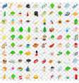 100 london icons set isometric 3d style vector image vector image